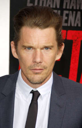 ethan: Ethan Hawke at the Los Angeles premiere of Getaway held at the Regency Village Theatre in Westwood, USA on August 26, 2013. Editorial