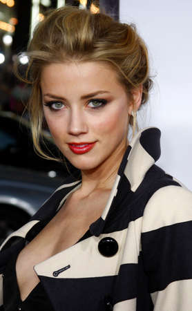 """Amber Heard attends the World Premiere of """"Forgetting Sarah Marshall"""" held at the Grauman's Chinese Theater in Hollywood, California, United States on April 10, 2008."""