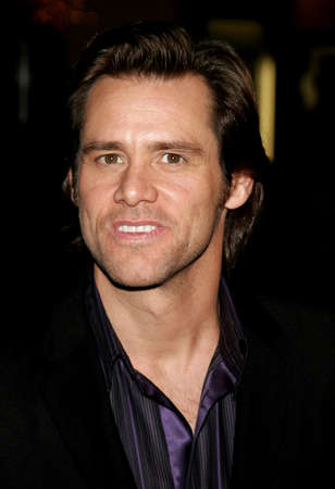 Jim Carrey attends the Los Angeles Premiere of Fun with Dick and Jane held at The Mann Village Theatres in Westwood, California, United States on December 14, 2005.
