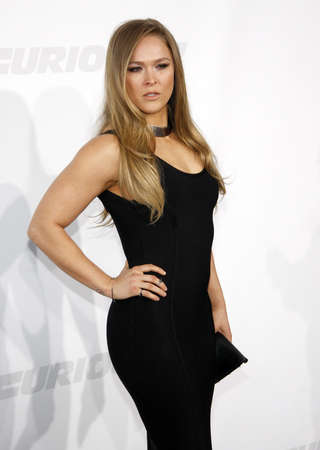 Ronda Rousey at the Los Angeles premiere of Furious 7 held at the TCL Chinese Theatre IMAX in Hollywood, USA on April 1, 2015.