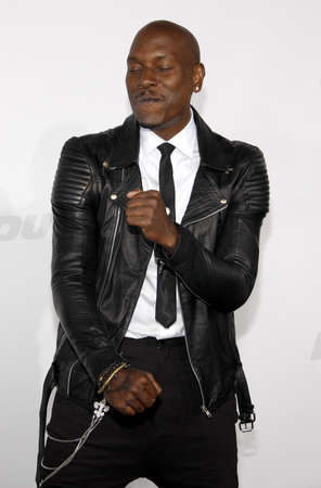 gibson: Tyrese Gibson at the Los Angeles premiere of Furious 7 held at the TCL Chinese Theatre IMAX in Hollywood, USA on April 1, 2015.