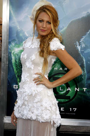 Blake Lively at the Los Angeles premiere of Green Lantern held at the Graumans Chinese Theatre in Hollywood, USA on June 15, 2011. Redakční