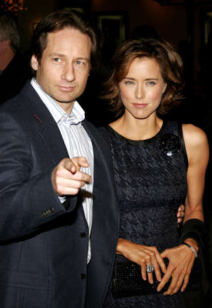 dick: David Duchovny and Tea Leoni attend the Los Angeles Premiere of Fun with Dick and Jane held at The Mann Village Theatres in Westwood, USA on December 14, 2005.
