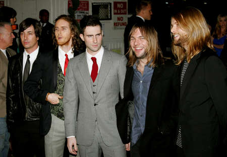 Adam Levine and Maroon 5 at the Global Green USA Pre-Oscar Celebration to Benefit Global Warming held at the The Avalon in Hollywood, USA on February 21, 2007.
