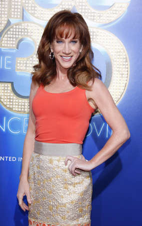 glee: Kathy Griffin at the Los Angeles premiere of Glee: The 3D Concert Movie held at the Regency Village Theatre in Westwood, USA on August 6, 2011. Editorial