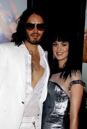 perry: Katy Perry and Russell Brand at the Los Angeles premiere of Get Him To The Greek  held at the Greek Theatre in Los Angeles, USA on May 25, 2010.