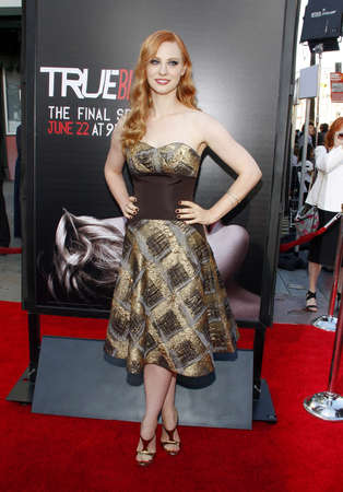woll: Deborah Ann Woll at the Season 7 premiere of HBOs True Blood held at the TCL Chinese Theatre in Los Angeles, USA on June 17, 2014. Editorial