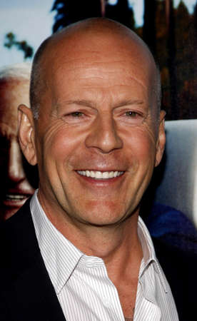 Bruce Willis at the HBO's 'His Way' Los Angeles Premiere held at the Paramount Studios lot in Hollywood on March 22, 2011. 報道画像