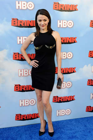 brink: Maribeth Monroe at the HBOs Season premiere of Brink held at the Paramount Studios in Hollywood, USA on June 8, 2015.