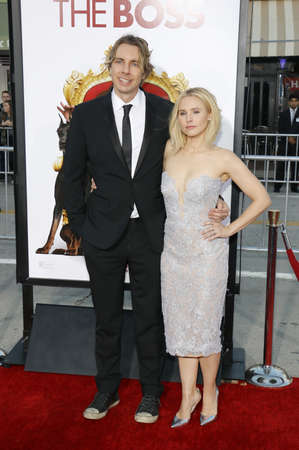 shepard: Kristen Bell and Dax Shepard at the Los Angeles premiere of The Boss held at the Regency Village Theatre in Westwood, USA on March 28, 2016.