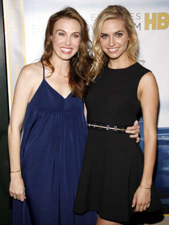 newsroom: Wynn Everett and Margaret Judson at the Los Angeles premiere of HBOs The Newsroom Season 3 held at the DGA Theatre in Los Angeles, USA on November 4, 2014. Editorial