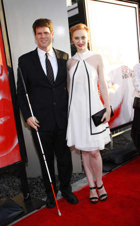 woll: HOLLYWOOD, CA - MAY 30, 2012: Deborah Ann Woll and E.J. Scott at the HBOs True Blood season 5 premiere held at the ArcLight Cinemas in Hollywood, USA on May 30, 2012.