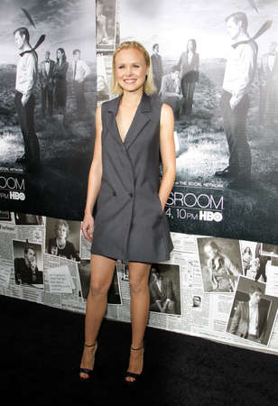 newsroom: Alison Pill at the HBOs Season 2 Premiere of The Newsroom held at the Paramount Studios in Hollywood, USA on July 10, 2013. Editorial