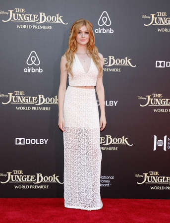 katherine: Katherine McNamara at the World premiere of The Jungle Book held at the El Capitan Theatre in Hollywood, USA on April 4, 2016.