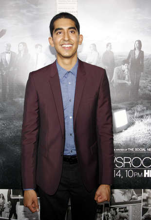 newsroom: Dev Patel at the HBOs Season 2 Premiere of The Newsroom held at the Paramount Studios in Hollywood, USA on July 10, 2013. Editorial