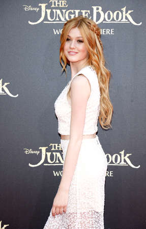katherine: Katherine McNamara at the World premiere of 'The Jungle Book' held at the El Capitan Theatre in Hollywood, USA on April 4, 2016. Editorial