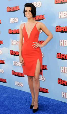 brink: Jaimie Alexander at the HBOs Season premiere of Brink held at the Paramount Studios in Hollywood, USA on June 8, 2015.
