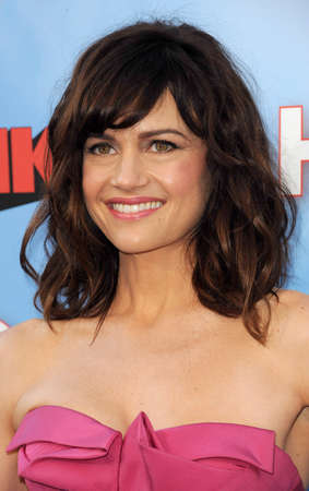 brink: Carla Gugino at the HBOs Season premiere of Brink held at the Paramount Studios in Hollywood, USA on June 8, 2015.