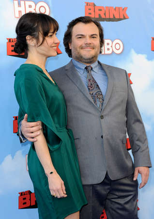 brink: Jack Black and Tanya Haden at the HBOs Season premiere of Brink held at the Paramount Studios in Hollywood, USA on June 8, 2015.