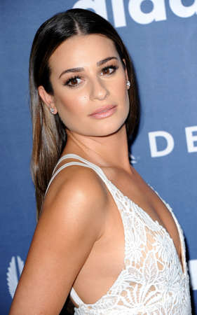 lea: Lea Michele at the 27th Annual GLAAD Media Awards held at the Beverly Hilton Hotel in Beverly Hills, USA on April 2, 2016.