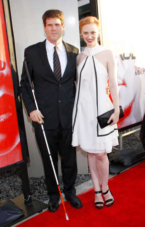 woll: Deborah Ann Woll and E.J. Scott at the HBOs True Blood season 5 premiere held at the ArcLight Cinemas in Hollywood, USA on May 30, 2012. Editorial