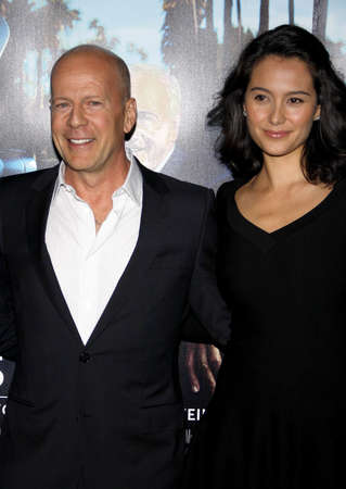 willis: Bruce Willis and Emma Heming at the HBOs His Way Los Angeles Premiere held at the Paramount Studios lot in Hollywood on March 22, 2011.