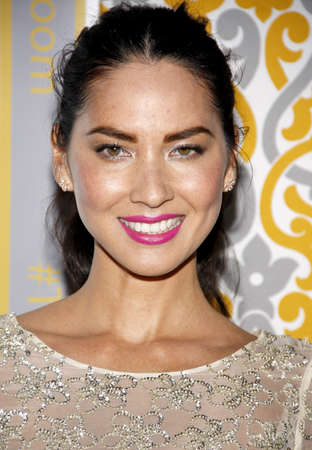 newsroom: Olivia Munn at the Los Angeles premiere of HBOs The Newsroom Season 3 held at the DGA Theatre in Los Angeles, USA on November 4, 2014. Editorial