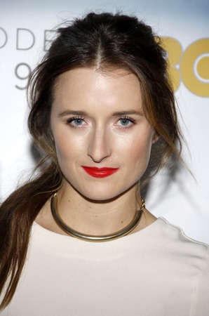newsroom: Grace Gummer at the Los Angeles premiere of HBOs The Newsroom Season 3 held at the DGA Theatre in Los Angeles, USA on November 4, 2014.