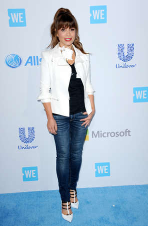 paula: Paula Abdul at the WE Day California held at the Forum in Inglewood, USA on April 7, 2016.