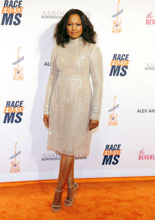 ms: Garcelle Beauvais at the 23rd Annual Race To Erase MS Gala held at the Beverly Hilton Hotel in Beverly Hills, USA on April 15, 2016.