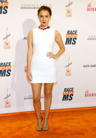Camilla Luddington at the 23rd Annual Race To Erase MS Gala held at the Beverly Hilton Hotel in Beverly Hills, USA on April 15, 2016.