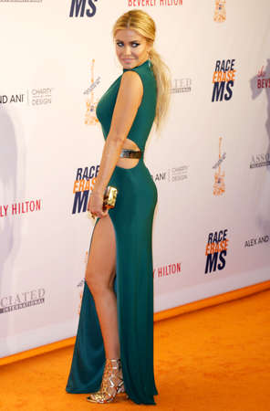 ms: Carmen Electra at the 23rd Annual Race To Erase MS Gala held at the Beverly Hilton Hotel in Beverly Hills, USA on April 15, 2016.
