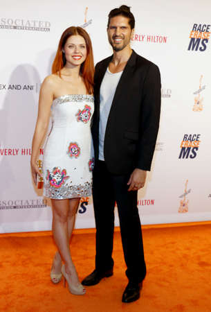 millan: Anna Trebunskaya and Nevin Millan at the 23rd Annual Race To Erase MS Gala held at the Beverly Hilton Hotel in Beverly Hills, USA on April 15, 2016. Editorial