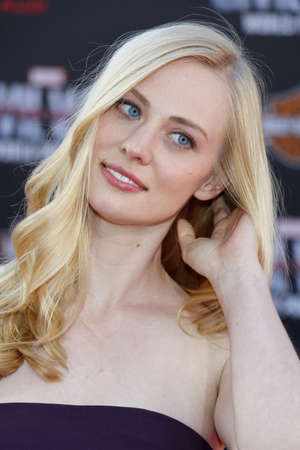 woll: Deborah Ann Woll at the World premiere of Captain America: Civil War held at the Dolby Theatre in Hollywood, USA on April 12, 2016.