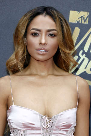 burbank: Kat Graham at the 2016 MTV Movie Awards held at the Warner Bros. Studios in Burbank, USA on April 9, 2016.