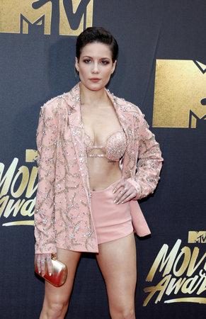 warner: Halsey at the 2016 MTV Movie Awards held at the Warner Bros. Studios in Burbank, USA on April 9, 2016.