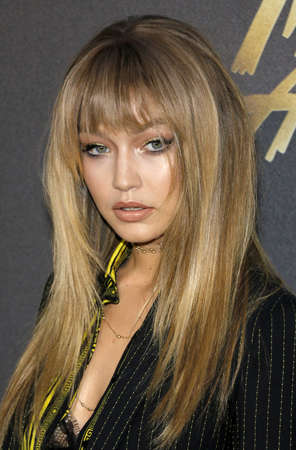 burbank: Gigi Hadid at the 2016 MTV Movie Awards held at the Warner Bros. Studios in Burbank, USA on April 9, 2016. Editorial