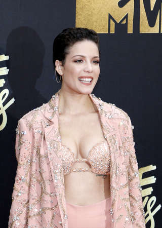 burbank: Halsey at the 2016 MTV Movie Awards held at the Warner Bros. Studios in Burbank, USA on April 9, 2016.