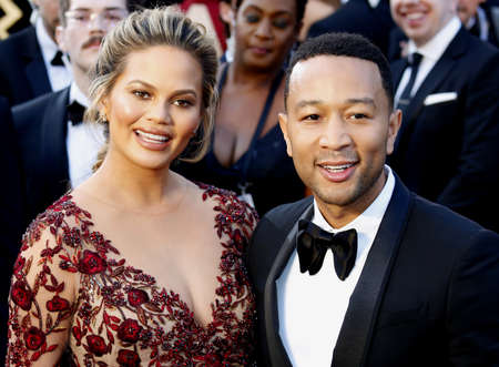 dolby: Chrissy Teigen and John Legend at the 88th Annual Academy Awards held at the Dolby Theatre in Hollywood, USA on February 28, 2016.