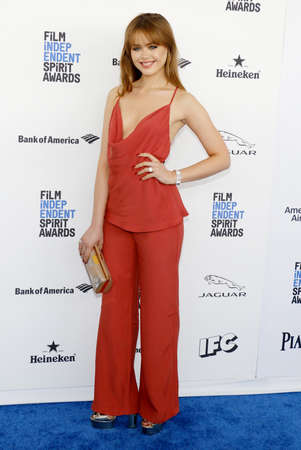 bazan: Kristina Bazan at the 2016 Film Independent Spirit Awards held at the Santa Monica Beach in Santa Monica, USA on February 27, 2016.
