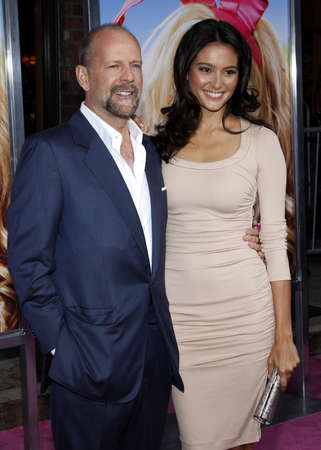 willis: Bruce Willis and Emma Heming at the Los Angeles premiere of House Bunny held at the Mann Village Theatre in Westwood on August 20, 2008.