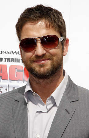 gibson: Gerard Butler at the Los Angeles premiere of How To Train Your Dragon held at the Universal Studios Gibson Amphitheatre in Universal City on March 21, 2010. Editorial