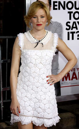 Elizabeth Banks at the Los Angeles premiere of 'I Love You, Man' held at the Mann's Village Theater in Westwood on March 17, 2009. Editorial