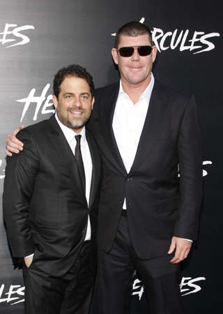 packer: James Packer and Brett Ratner at the Los Angeles premiere of Hercules held at the TCL Chinese Theatre in Los Angeles, USA on July 23, 2014.