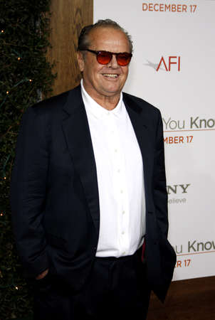 Jack Nicholson at the Los Angeles premiere of How Do You Know held at the Regency Village Theatre in Westwood on December 13, 2010.