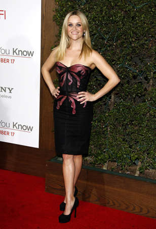 Reese Witherspoon at the Los Angeles premiere of How Do You Know held at the Regency Village Theatre in Westwood on December 13, 2010.