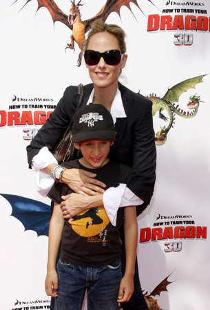 gibson: Kim Raver at the Los Angeles premiere of How To Train Your Dragon held at the Universal Studios Gibson Amphitheatre in Universal City on March 21, 2010. Editorial