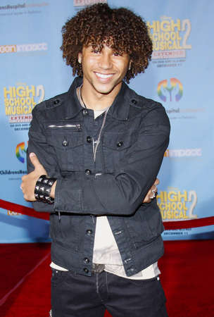 Corbin Bleu at the DVD Release Premiere of High School Musical 2: Extended Edition held at the El Capitan Theater in Hollywood, USA on November 19, 2007. Redakční