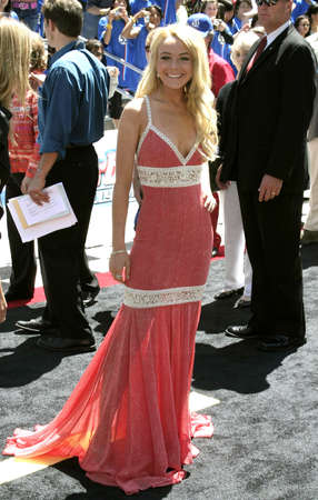 Lindsay Lohan attends the Los Angeles Premiere of Herbie Fully Loaded held at the El Capitan Theater in Hollywood, California, United States on June 19, 2005.