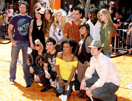 finalists: David Cook and The America Idol Top 12 finalists at the World Premiere of Horton Hears a Who! held at the Westwood Village Theater in Westwood, USA on March 8, 2008.